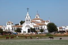 Hermitage of El Rocio, Spain Stock Photography