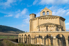 Hermitage of Eunate. 12th century Romanesque church located in the North of Spain which origin remains controversial Stock Photo