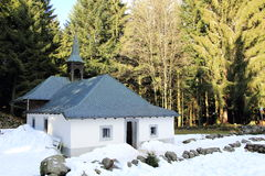 Hermitage Frère Joseph to Ventron. Place of pilgrimage and ski resort in Vosges Stock Images