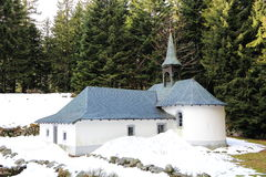 Hermitage Frère Joseph to Ventron. Place of pilgrimage and ski resort in Vosges Royalty Free Stock Images