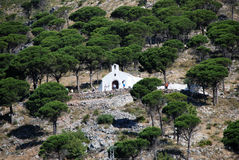 Hermitage on the hill, Mijas. Royalty Free Stock Image
