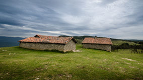 Hermitage. Located on top of a hill with a background of clouds Royalty Free Stock Photos