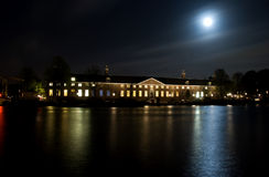 Hermitage by moonlight. Hermitage museum by moonlight; beautiful night scenery in Amsterdam Royalty Free Stock Images