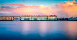 Hermitage museum at dusk Stock Images
