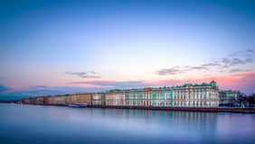 Hermitage museum at dusk Stock Photo
