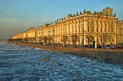 Hermitage Museum In Petersburg Stock Photo