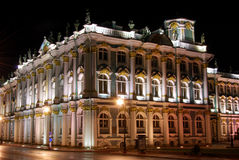 Hermitage Museum by night Royalty Free Stock Image