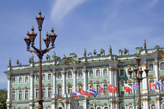 Hermitage museum in Saint-Petersburg city, Russia. Royalty Free Stock Photos