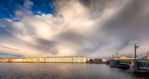 Hermitage museum at sunset Royalty Free Stock Photography