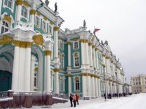 Hermitage museum in winter Stock Photos