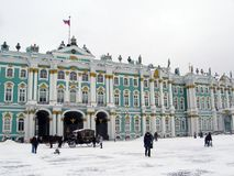 Hermitage museum in winter Royalty Free Stock Images