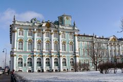 The Hermitage museum in winter. Royalty Free Stock Image