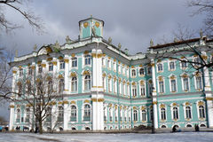 The Hermitage museum in winter. Royalty Free Stock Photo