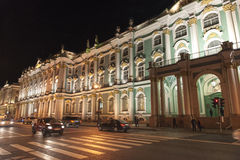The Hermitage at night Stock Image
