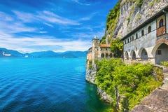 Free Hermitage Or Eremo Of Santa Caterina Del Sasso Monastery. Maggiore Lake, Lombardy Italy Stock Image - 165676791
