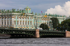 The Hermitage and Palace Bridge Stock Image
