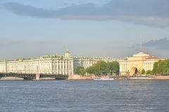 The Hermitage and the Palace bridge. Stock Photos