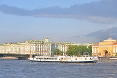 The Hermitage and the Palace bridge. Royalty Free Stock Image