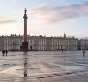 Hermitage and palace square in Saint Petersburg Royalty Free Stock Photo