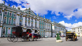 Hermitage on Palace Square, St. Petersburg, Russia Stock Photography