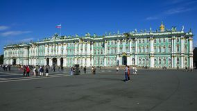 Hermitage on Palace Square, St. Petersburg, Russia Royalty Free Stock Photos