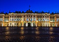 Hermitage on Palace Square in St. Petersburg, Russia Royalty Free Stock Photo