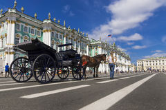 Hermitage on Palace Square, St. Petersburg, Russia Stock Images