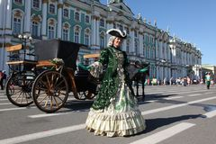 At The Hermitage on Palace Square, St Petersburg, Russia Royalty Free Stock Image