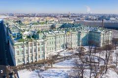 hermitage Palacio Petersburgo, Rusia del invierno foto de archivo