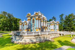 Hermitage Pavilion at the Catherine Park (Pushkin) in summer day Stock Photography