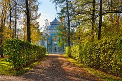 The Hermitage  pavilion in Catherine park in Pushkin Stock Photography