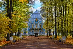 The Hermitage  pavilion in Catherine park in Pushkin Royalty Free Stock Images