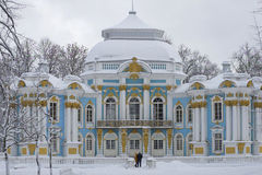 At the Hermitage pavilion cloudy winter day. Tsarskoye Selo Stock Photography