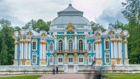 Hermitage pavilion timelapse in Catherine park in Tsarskoe Selo near Saint Petersburg, Russia stock footage