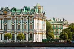 Hermitage in Saint-Petersburg. Hermitage (Winter Palace) in Saint-Petersburg royalty free stock image