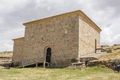 Hermitage of San Baudelio, Casillas de Berlanga, Soria, Castilla-Leon, Spain. Hermitage pre-romanesce in Casillas de Berlanga, Soria royalty free stock image