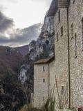 The hermitage Sant'Ambrogio, Pascelupo, Mount Cucco NP, Umbria, Royalty Free Stock Photo