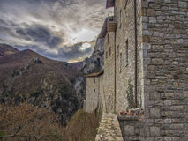 The hermitage Sant'Ambrogio, Pascelupo, Mount Cucco NP, Umbria, Stock Image