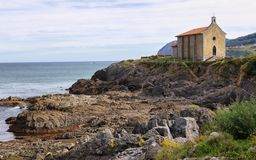 Hermitage of Santa Catalina in Mundaka, Basque country royalty free stock image