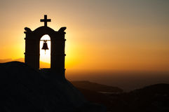 Hermitage Sunset. Beautiful sunset view from on top of Chora town, in Greece Royalty Free Stock Images