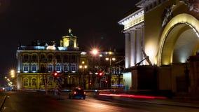 hermitage Terraplenagem de Admiralty em St Petersburg St Petersburg video estoque