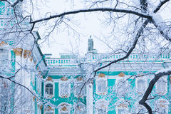 Hermitage through the trees Royalty Free Stock Photography