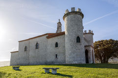 Hermitage of the Virgin of the Guide of Llanes, Asturias Royalty Free Stock Images