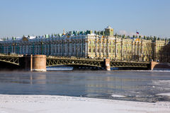 Hermitage in winter Stock Images