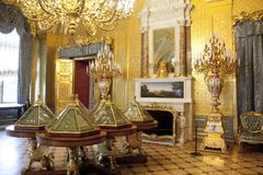 The Hermitage Winter Palace gold lounge Petersburg Russia Royalty Free Stock Images