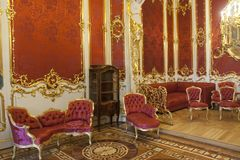 The Hermitage Winter Palace  Pthe boudoir of the the boudoir of the Empress Peterburg Russia Stock Images
