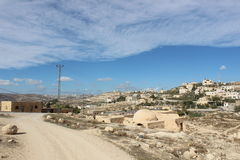 Hermod mountain close to Bethlehem ancient ruins, Palestine Royalty Free Stock Photography