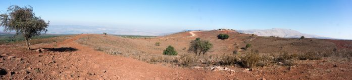 Hermon mountain panorama in Israel. Trekking in israeli north near syrian border Royalty Free Stock Images