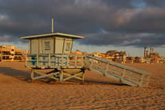Hermosa Beach Lifeguard Shack Royalty Free Stock Photo
