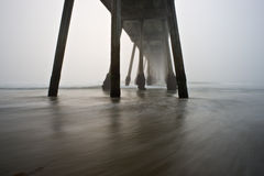 Hermosa Beach Pier Foggy Stock Photography
